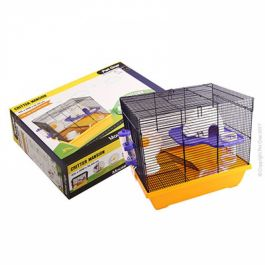 Pet One Critter Mansion Mouse Wire Cage White Amp Yellow