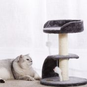 Charlie's Pet Cat Tree Scratcher with Scratching Slope Charcoal