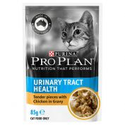 Pro Plan Adult Urinary Tract Health Chicken Cat Food Pouches 12x85g