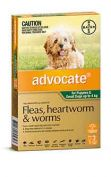 Advocate Dog Bayer Pack of 3 0-4KG Small Green