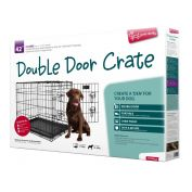 Yours Droolly Double Door Dog Crate