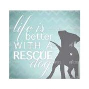 Thirstystone Life is Better With a Rescue Dog Coaster
