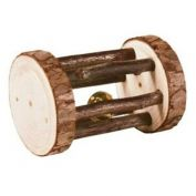 Trixie Small Animal Natural Wood Roller with Bell 7cm