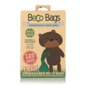 Beco Pets Unscented Degradable Dog Poop Bags with Handles 120 Pack