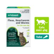 Aristopet Flea, Heartworm, Worms Spot On for Cats Over 4Kg