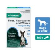 Aristopet Flea, Heartworm, Worms Spot On for Dogs 10 - 25kg