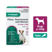 Aristopet Flea, Heartworm, Worms Spot On for Dogs 4 - 10kg
