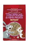 Peters Rabbit & Guinea Pig Tropical and Vine Fruits 4kg