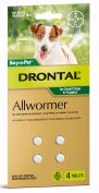 Drontal Allwormer Tablets for Small Dogs & Puppies Pack of 4