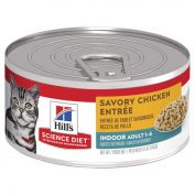 Hill's Science Diet Adult Indoor Savory Chicken Entrée Canned Cat Food 156g x 24