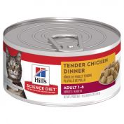 Hill's Science Diet Adult Tender Chicken Dinner Canned Cat Food 156g x 24