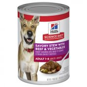Hills Science Diet Adult Savory Stew Beef & Vegetables Canned Dog Food 363g x 12