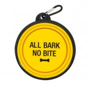 Say What Dog Bowl All The Bark No Bite Yellow