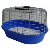 K9 Homes Cat Oval Wire Top Carry Cage Blue