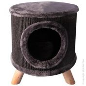 Pet One Cat Scratching Tree Hide With Feet Black