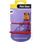 Pet One Guinea Pig Lead & Harness Set Red