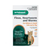 Aristopet Flea, Heartworm, Worms Spot On for Kittens up to 4Kg