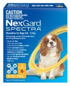 Nexgard Spectra Yellow For Small Dogs 3.6-7.5kg