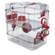 Zolux Rody 3 Small Animal Cage Duo Red