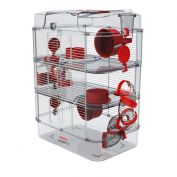Zolux Rody 3 Small Animal Cage Trio Red