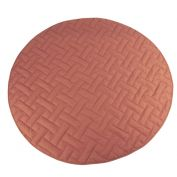 T & S Quilted Linen Playmat Pink
