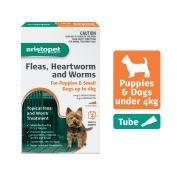 Aristopet Flea, Heartworm, Worms Spot On for Puppies up to 4Kg