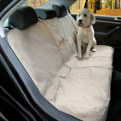 Kurgo Extended Wander Car Bench Seat Cover for Dog Travel Hampton Sand