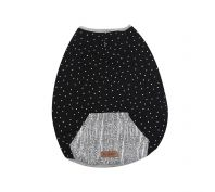 Kazoo Lamington Snuggle Black & White Dog Jacket Large
