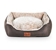 Freezack Volant Sherpa Sofa Dod Bed Brown & Beige