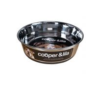 Cooper & Lila Stainless Steel Dog Bowl