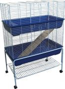 Bono Fido Rabbit Cage Double Storey with Stand 100 x 55 x 145cm
