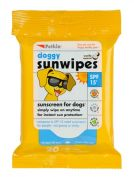 Petkin Doggy Sun Wipes SPF15 20 Pack