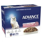 Advance Adult Cat Mature 8+ Ocean Fish in Jelly Wet Cat Food 12x85g