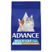 Advance Multi Cat Chicken & Salmon Adult Dry Cat Food