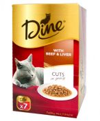 Dine Cuts in Gravy with Beef & Liver 7x85g