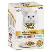 Fancy Feast Petit Cuisine Cat Food Turkey, Chicken & Tuna 6x50g