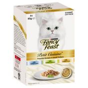 Fancy Feast Petit Cuisine Cat Food Tuna, Salmon & Cod 6x50g
