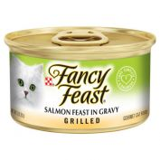 Fancy Feast Grilled Salmon Feast in Gravy Wet Cat Food 24x85g