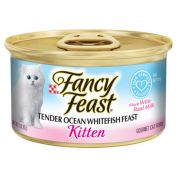 Fancy Feast Kitten Tender Ocean Whitefish Feast Wet Cat Food 24x85g