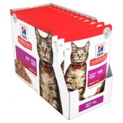Hill's Science Diet Adult Cat Food Beef Pouches 12x85g