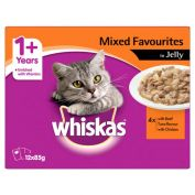 Whiskas Mixed Favourites in Jelly Adult Wet Cat Food 12x85g