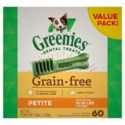 Greenies Dental Dog Treats Grain Free Value Pack Petite 1kg