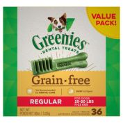 Greenies Dental Dog Treats Grain Free Value Pack Regular 1kg