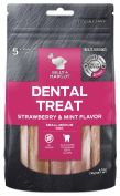 Billy & Margot Strawberry & Mint Small & Medium Dental Dog Treat 5 Pack