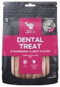 Billy & Margot Strawberry & Mint Large Dental Dog Treat 5 Pack