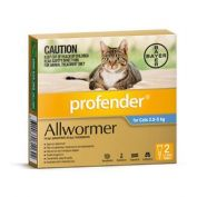 Profender Allwormer Spot On Cat Medium Blue 2.5 - 5kg 2 Pack