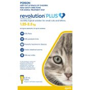Revolution Plus for Cats & Kittens 1.25 - 2.5kg Yellow 3 Pack