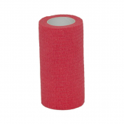 Value Plus Valuwrap Cohesive Pet Bandage 10cm Red