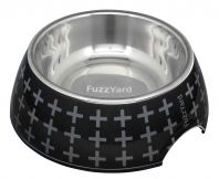 FuzzYard Dog Bowl Yeezy Black With Grey Cross