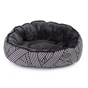 FuzzYard Dog Bed Northcote Black & White Weave